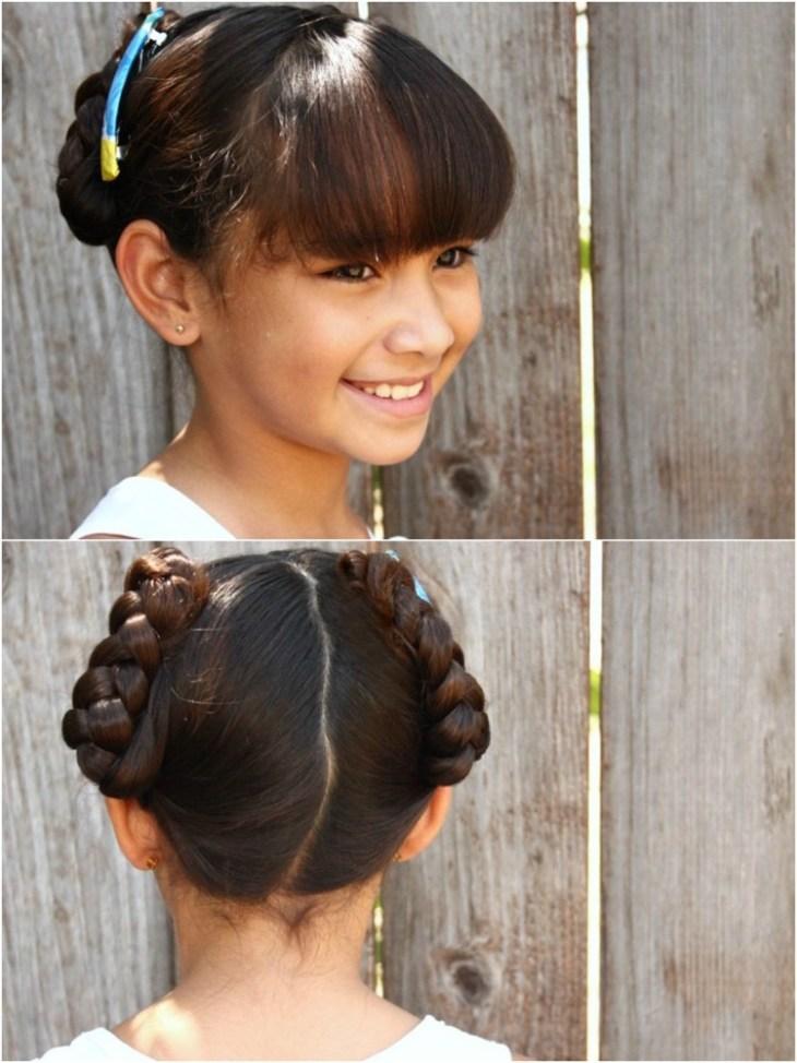 coiffure pour petite fille -chignons-tressés-épingle-cheveux