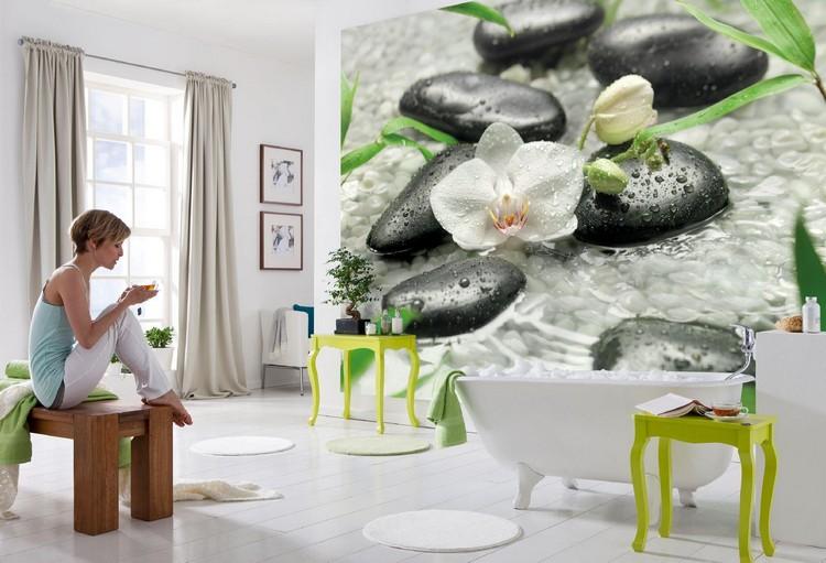 Poster Mural Trompe L œil Et Papier Peint Original Pour La Salle De Toilette