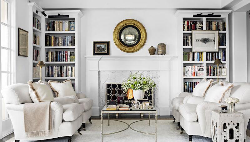 salon de la peinture murale aux meubles