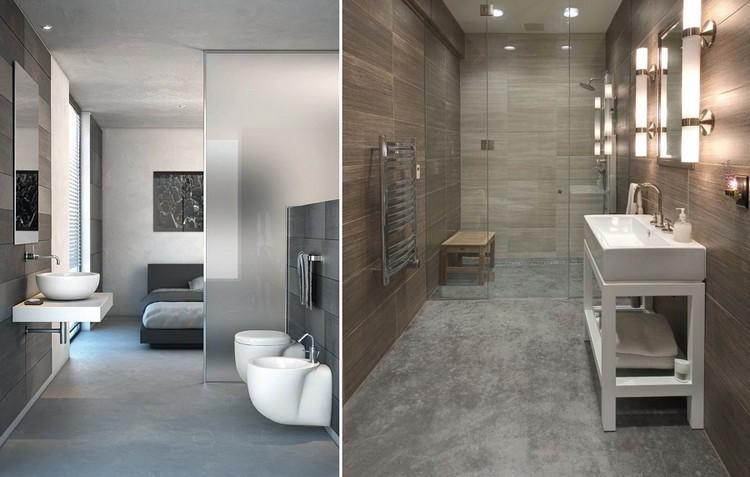 beton cire salle de bain pour creer un