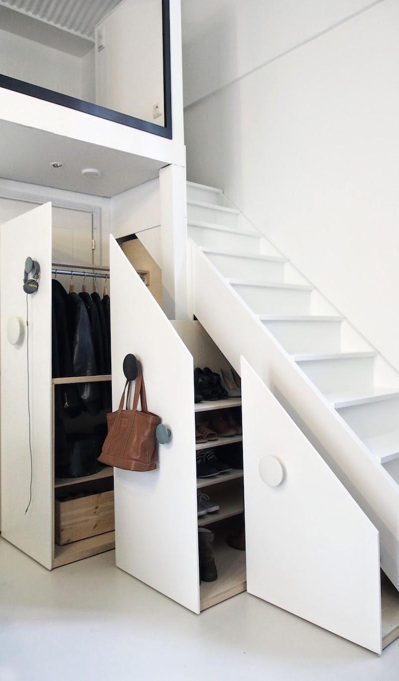 meubles sous escalier sur mesure et
