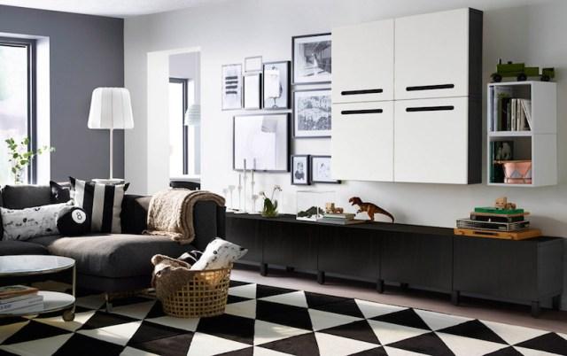 ambiance-salon-chic-contemporain-noir-blanc-ikea-tapis-scandinave