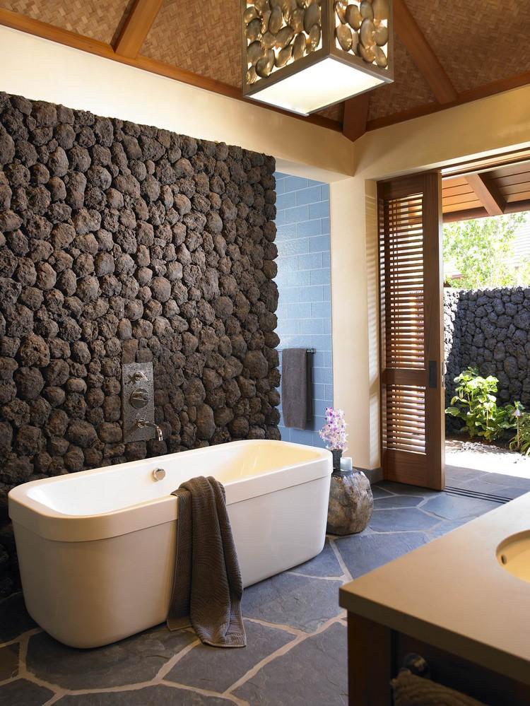 salle de bain pierre idees deco pour