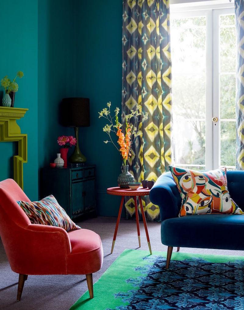 Deco Bleu Canard Idees De Peinture Murale Meubles Et Objets Deco