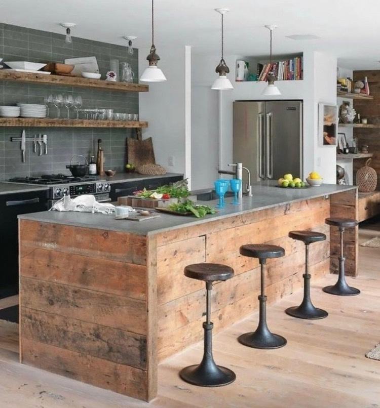 Ilot Central En Palette 32 Idees Diy Pour Customiser Sa Cuisine