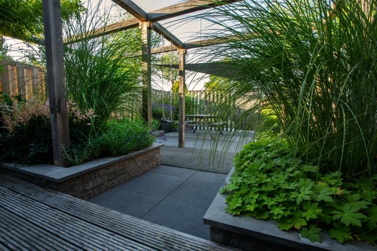 Amnagement Jardin Paysager Moderne Avec Coin De Dtente