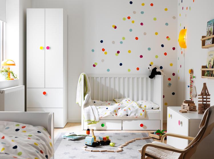 idees chambre enfant ikea decoration murale pois idees chambre enfant ikea union de meubles pratiques et decoration coloree