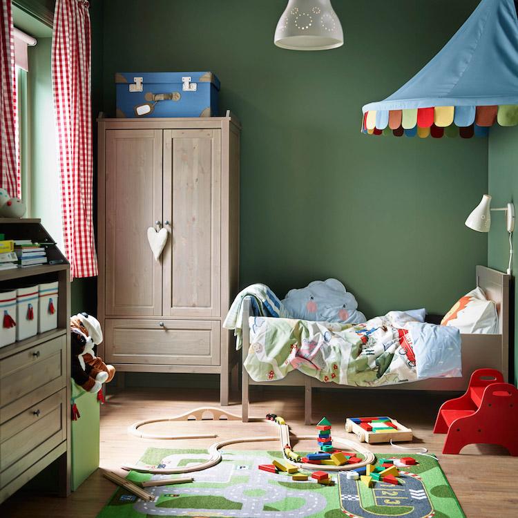idees chambre enfant ikea meubles bois textile couleur idees chambre enfant ikea union de meubles pratiques et decoration coloree