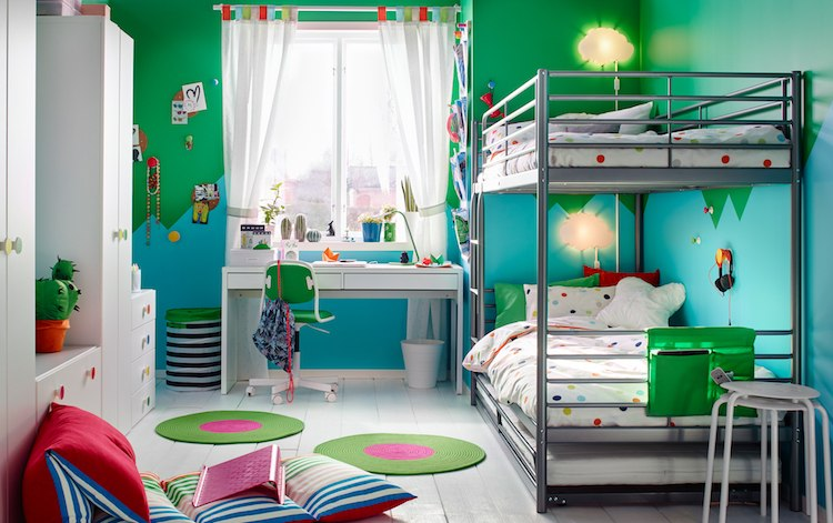 idees chambre enfant ikea tapis ronds linge pois idees chambre enfant ikea union de meubles pratiques et decoration coloree