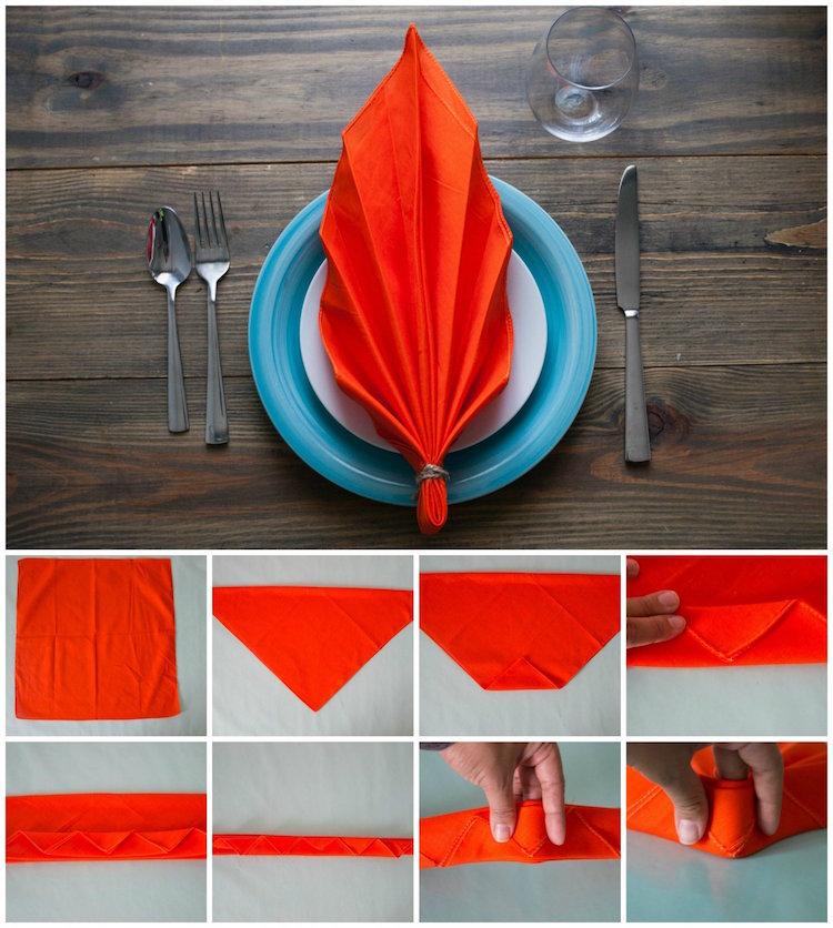 Decouvrez Comment Le Pliage Serviette Facile Permet De Booster La Deco De Table Festive