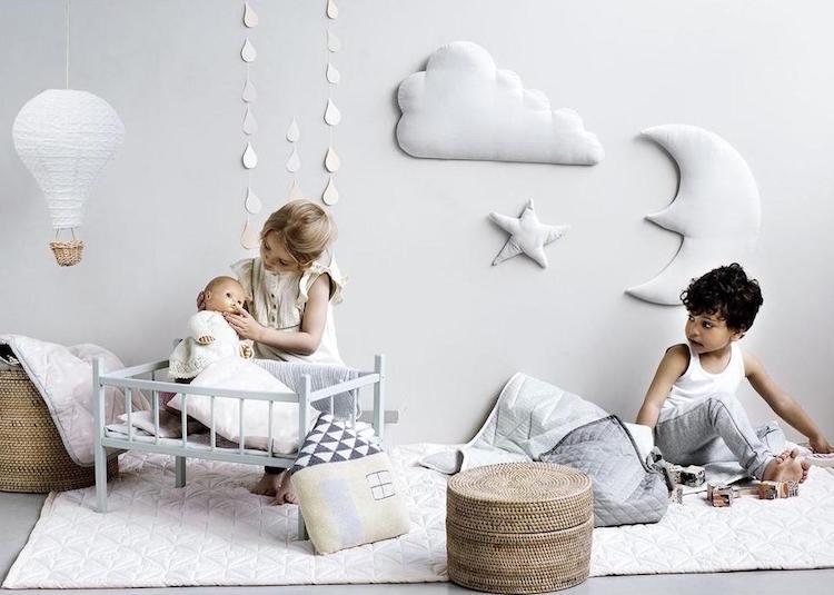 chambre via la decoration murale nuage