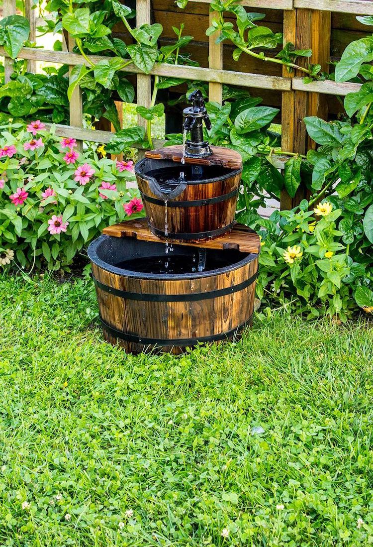 construire une fontaine exterieure pour