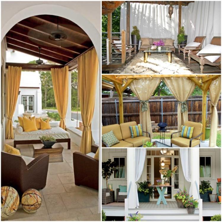 rideau veranda idees esthetiques pour