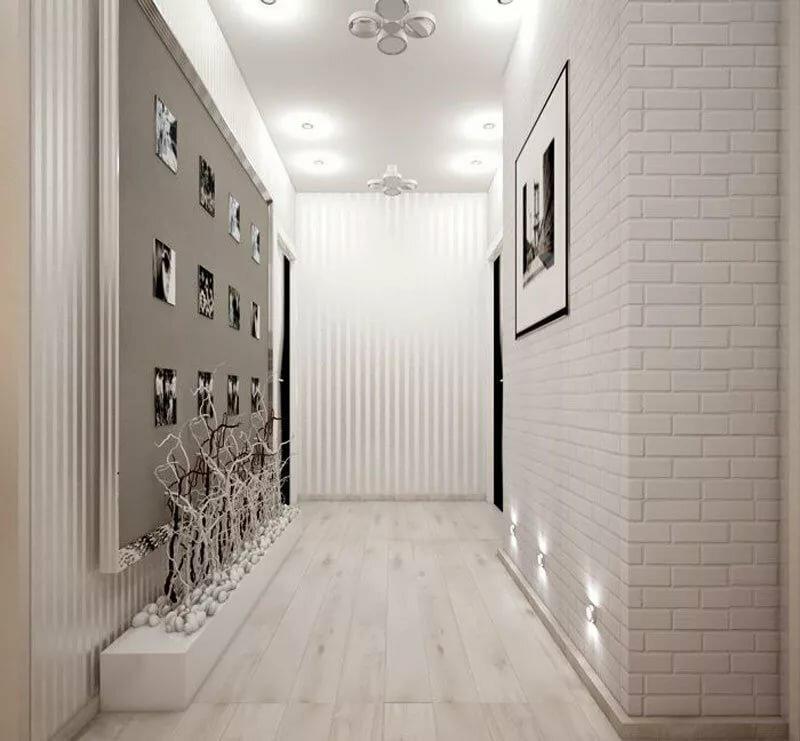 couloir gris et blanc idees deco et