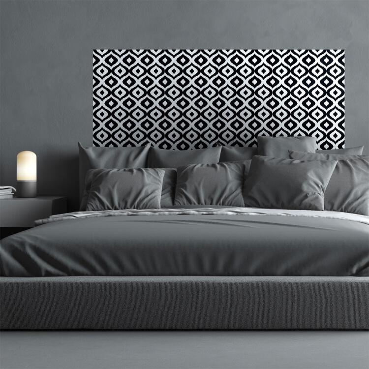 tete de lit en papier peint qui promet