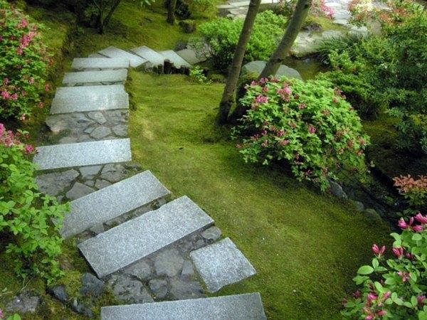 Decorative White Stones Garden