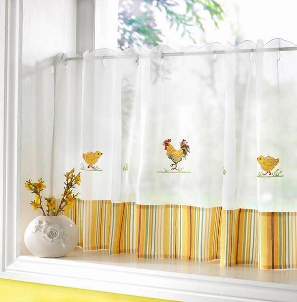 kitchen curtains modern interior