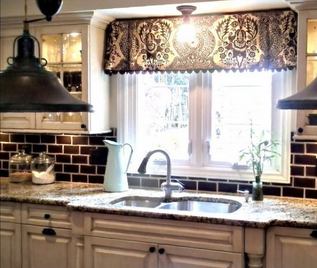 Windows Kitchen Window Treatment  Window Valance Curtains For The Interior Design Of Your Home
