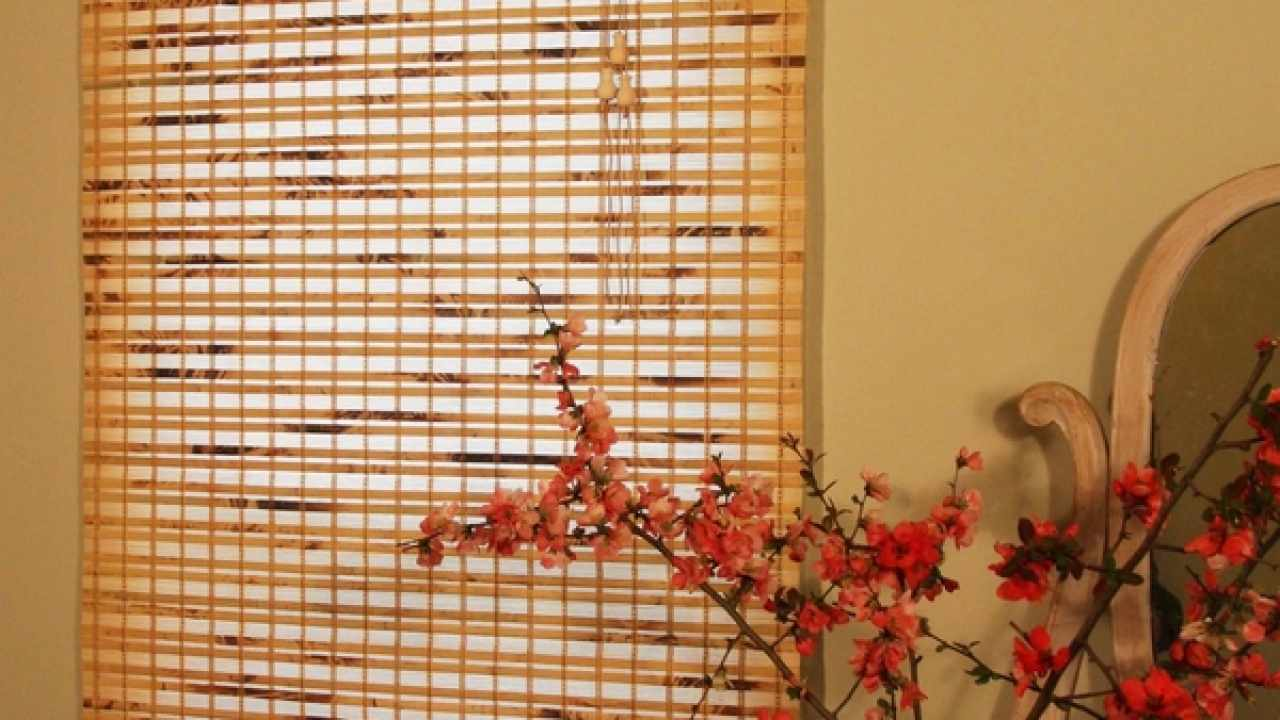 Bamboo Curtains And Blinds Sun Protection With Natural