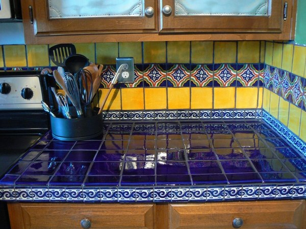 mexican tiles in the interior