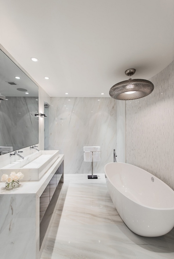 Marble bathroom tiles - classic elegance in modern design