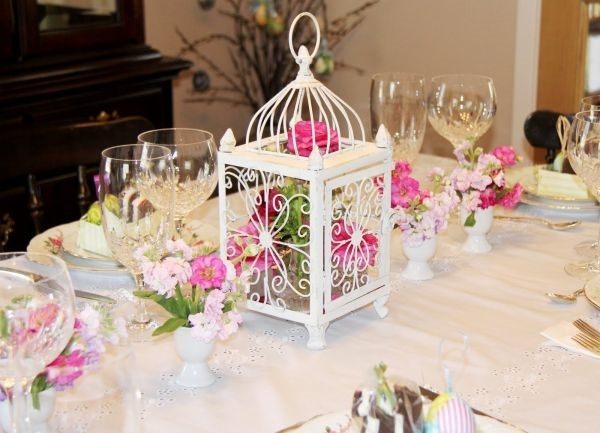 lantern centerpieces romantic table