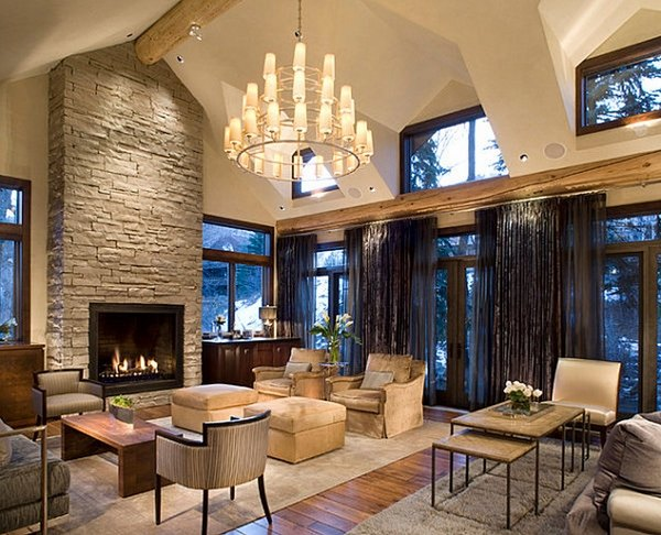 Modern Living Room Modern Fireplace Decor Ideas Novocom Top