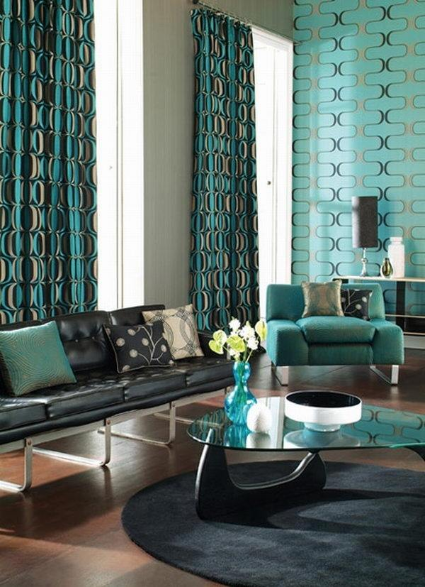 Turquoise Curtains Great Ideas For Modern Decoration In Every Room Deavita