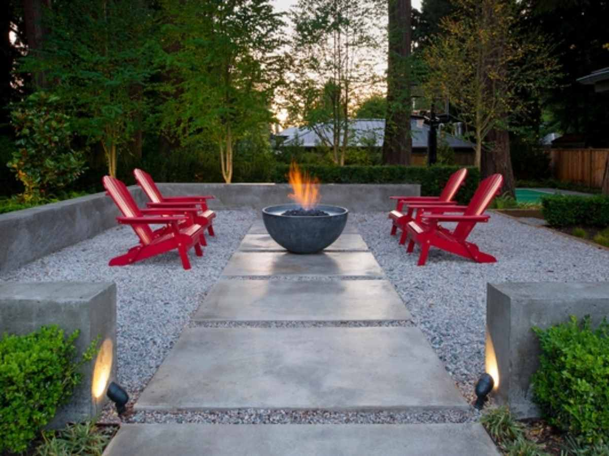 pea gravel patio ideas