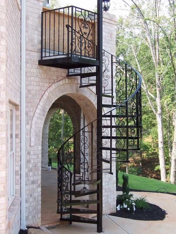 House Iron Stairs Design Outdoor | Iron Stairs Design Outdoor | Victorian | Curved Staircase Carpet | Cast Iron | Baluster Curved Stylish Overview Stair | Build Outdoor Stair