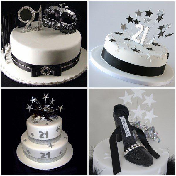 Modern 21st Birthday Cake Designs For Girls