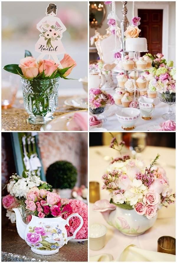 Shower Decorations 2 Cathyswraps Flower Vases Wedding Aisle Decor Pew Briliant Blue Hydrangea Carnations Polka
