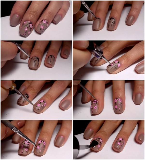 Cherry Blossom Nail Art Ideas Spring And Summer Manicure Designs