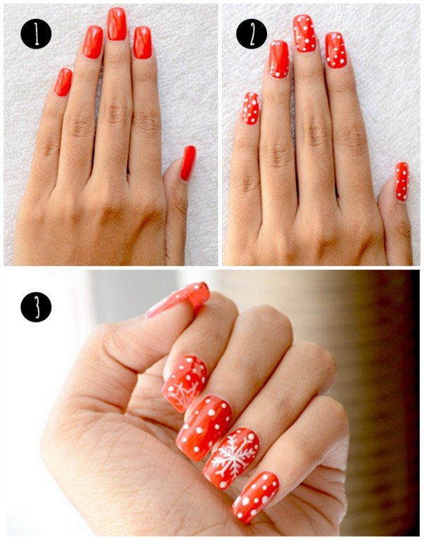Easy Christmas Nails Ideas Add To The Festive Spirit Of Season Cute