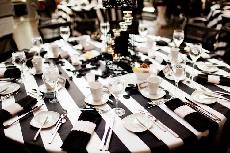 black and white wedding ideas the