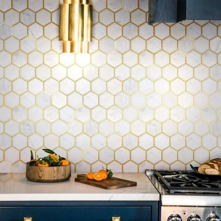 hexagonal tiles in interior design