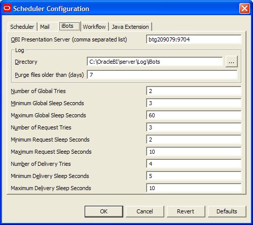 OBIEE Delivers-Schedulers-iBot Setup and Configuration (4/6)