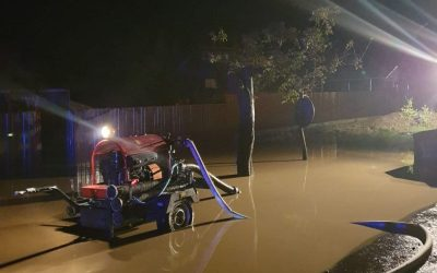 Inundații la Lespezi