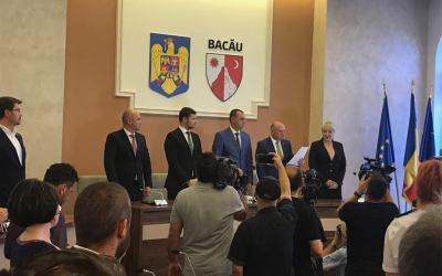 A avut loc festivitatea de învestire în funcție a prefectului Valentin Ivancea și a subprefectului Paul Cotîrleț