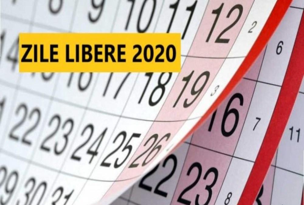 Zile libere legale în 2020