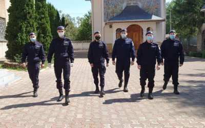 Viitori jandarmi, în practică la Inspectoratul de Jandarmi Județean Bacău