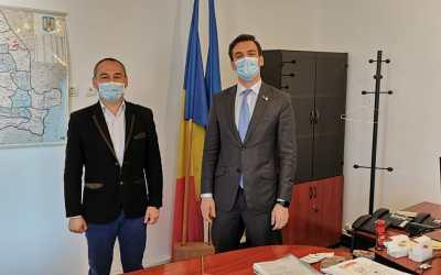 Prefectul Sorin Ailenei, întâlnire cu Secretarul de Stat Andrei Baciu