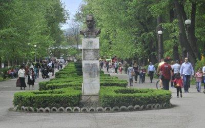 Punct de vaccinare în Parcul Cancicov Bacău