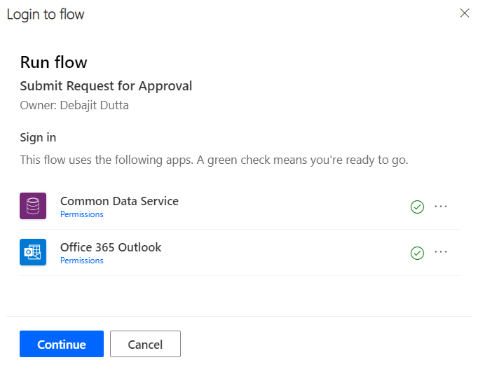 Run flow from Business process flow.
