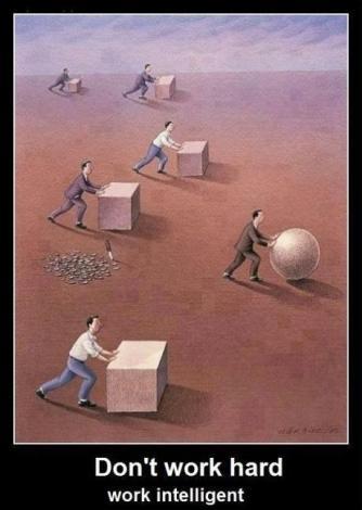 Don't work hard - Work intelligent