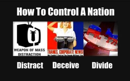 How to control a nation - Distract, Deceive, Divide