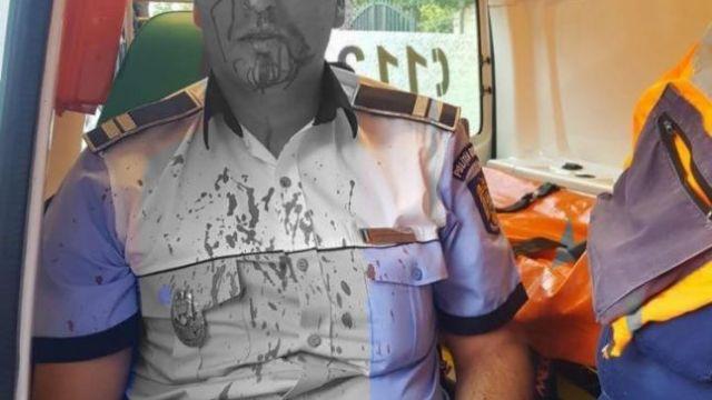 polițist agresat