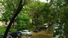 Străzi inundate la Timișoara