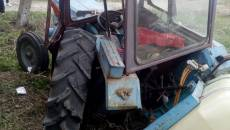 Accident feroviar între un tren și un tractor