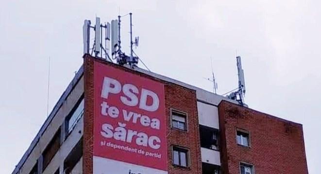Banner PSD te vrea sărac